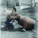HäKM, Tynnyrin hartsausta Saxelinin oluttehtaalla keväällä 1902.